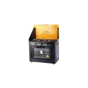 2-Burner Portable Gas Stove and Oven, Yellow