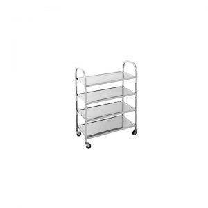 4 Tier Stainless Steel Kitchen Trolley