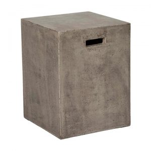 Doloma Concrete Indoor / Outdoor Square Accent Stool / Side Table