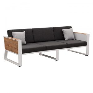 St Lucia Teak Outdoor 3 Seater Sofa