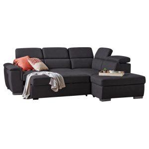 Caprice II Fabric Corner Sofa / Sofa Bed, 2 Seater with RHF Chaise & Ottoman