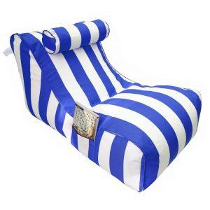 Bora Bora Fabric Indoor / Outdoor Bean Bag Cover, Blue Strip