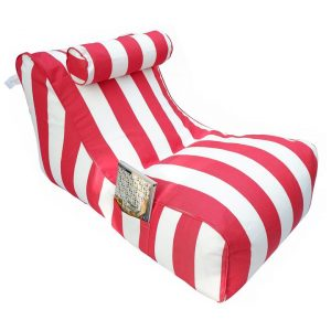 Bora Bora Fabric Indoor / Outdoor Bean Bag Cover, Red Strip