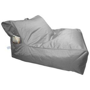 Calayan Fabric Indoor / Outdoor Bean Bag Cover, Silver