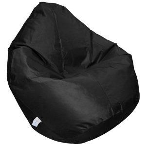 Cayman Fabric Indoor / Outdoor Bean Bag Cover, Black