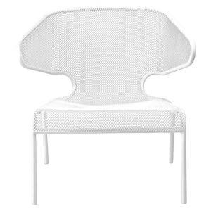 Havana Metal Outdoor Lounge Chair, White