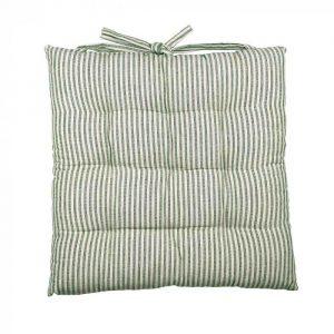 Abby Stripe Fabric Seat Cushion, Olive
