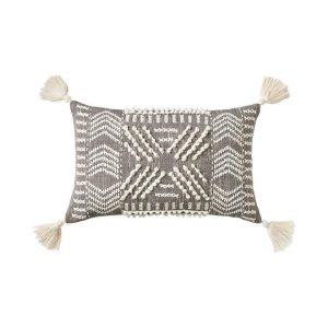 Adairs Acalan Cushion 35x55cm Black/Natural - Blacknatur