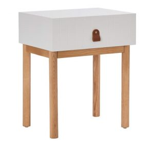 Adairs Kids Ascot Furniture Collection 1 Drawer Bedside Table White