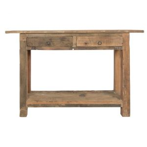 Aren Reclaimed Timber Console Table with Shelf