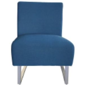 Jessy Fabric Outdoor Lounge Chair, Navy
