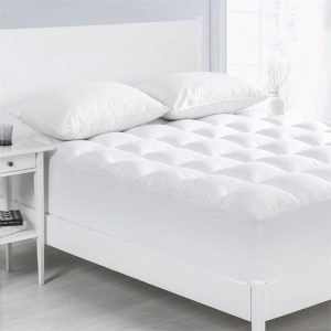 1000GSM Memory Resistant Microball Fill Mattress Topper Microfibre White Cloudland