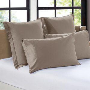 1200TC Set of 2 Egyptian Cotton European Pillow Cases Assorted Bedding Co