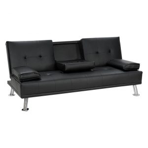 Aaren Faux Leather Sofa Bed Assorted Unique Home