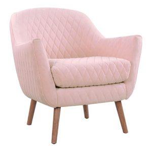 Alexo Velvet Dining Chair Blush D&D Design