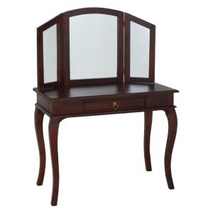Annalise Timber Dressing Table, Mahogany Kayu Estate