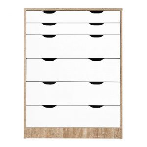 Anthony 6-Tier Chest of Drawers MDF Oak HelloFurniture