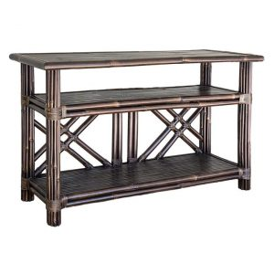 Bahamas Bamboo Console Table Dark Brown Florabelle