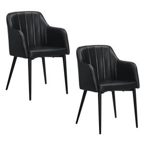 Baines Faux Leather Dining Chair (Set of 2) Assorted Zanui Collection