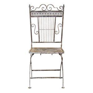 Baroque Outdoor Dining Chair (Set of 2) Metal Antique Grey Artisan Homewares