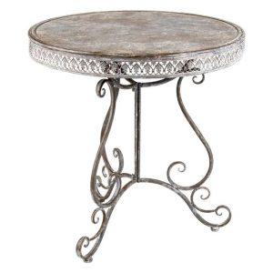 Baroque Outdoor Dining Table Metal Antique Grey Artisan Homewares