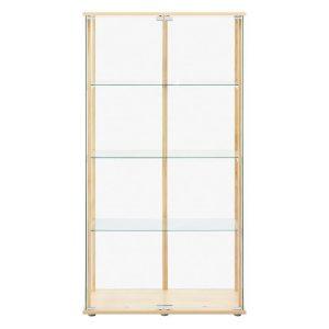 Beech 4-Tier Glass Display Cabinet Chipboard U.S Designs