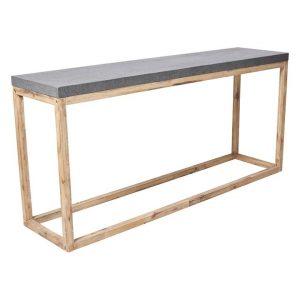 Bentley Outdoor Console Table Wood Concrete/Natural Casa Uno