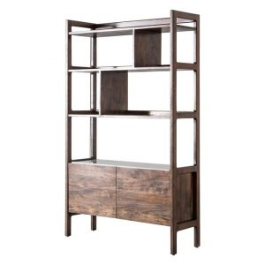 Berte Display Cabinet Wood Brown/White Castle Road Interiors