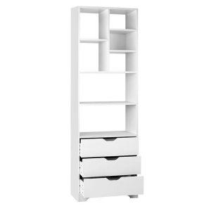 Bertina Display Cabinet with Drawers MDF White Resort Living