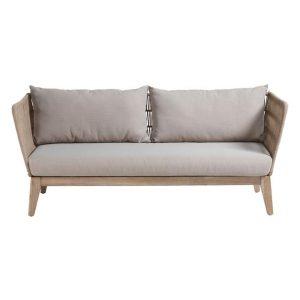 Beuna 3 Seater Outdoor Sofa Wood Washed Natural/Beige Vida & Co.