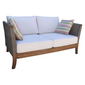 Classic Outdoor Sofa Wood Brown/Grey QFurniture