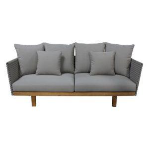 Cuba Outdoor Teak Sofa Fabric Taupe/Natural Satara