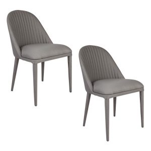 Dante Set of 2 Dining Chairs Polyester Assorted CAFE Lighting & Living