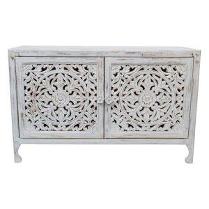 Devi Wooden Sideboard White Wash Amalfi