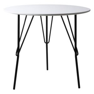 Ecuyer Round Office Table MDF White Levede