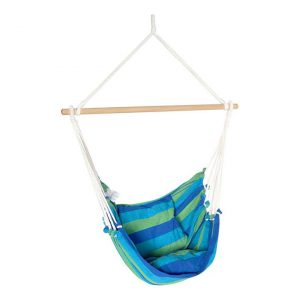 Germaine Hanging Hammock Chair Fabric Blue Frisse Outdoors