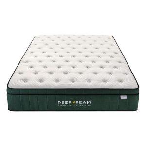 Green Tea Memory Foam Mattress Fabric White/Green Deep Dream