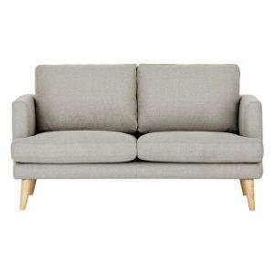 Harper 2-Seater Upholstered Sofa Polyester Light Grey HOMESTAR