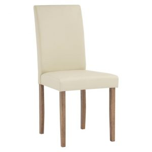 Karpin Dining Chair Vinyl Cream Simpel