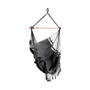Kiersten Outdoor Hammock Swing Chair, Grey Fabric Frisse Outdoors