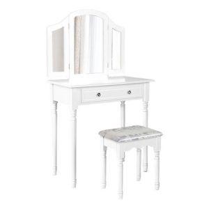 Larana Dressing Table & Stool Wood White Resort Living