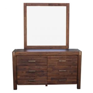Mollymook Dressing Table, Chocolate Wood Rothbury Home