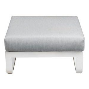 Padma Outdoor Aluminium Ottoman White/Grey Vida & Co.