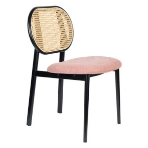 Spike Rattan Back Dining Chair Assorted Zuiver
