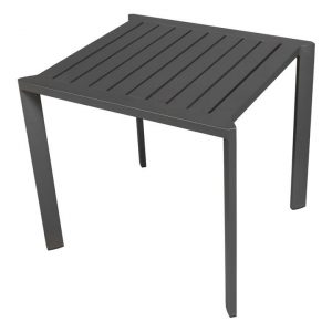 Taj Outdoor Side Table Aluminium Dark Grey Vida & Co.