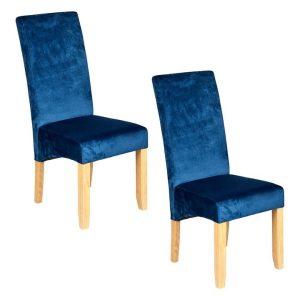 Winsor Dining Chair (Set of 2) Velvet Assorted New Oriental