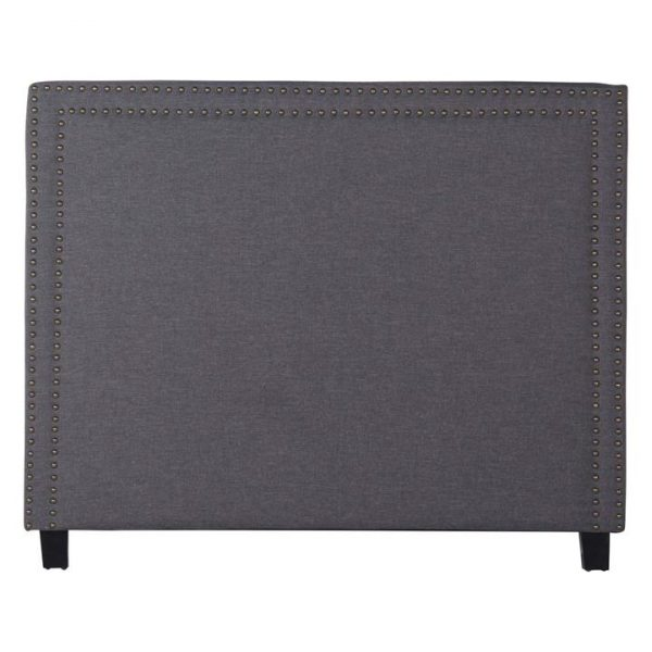 Aldworth Queen Bed Head, Charcoal Fabric Rothbury Home