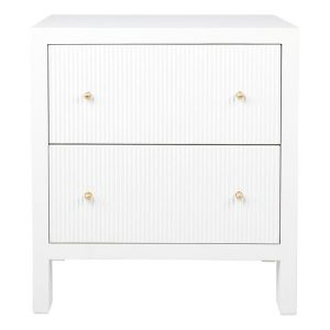 Ariana Ribbed Front Bedside Table MDF Assorted CAFE Lighting & Living