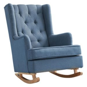 Bennswit Upholstered Rocking Armchair Fabric Assorted Levede