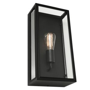 Chester Outdoor Wall Light Stainless Steel Black/Clear Cougar Lighting